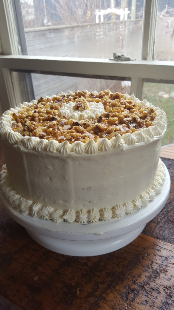 Another Carrot Cake with Candied Walnuts