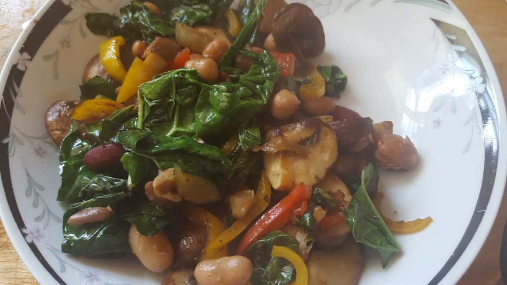 beans and lark leafy greens