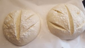 country bread unbaked